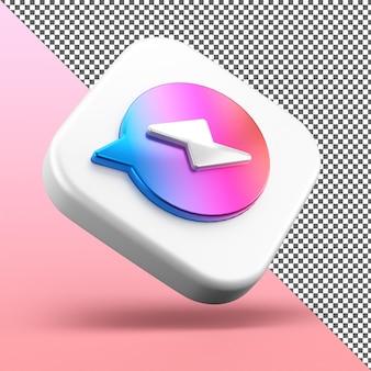 Design isolado do ícone do aplicativo messenger 3d