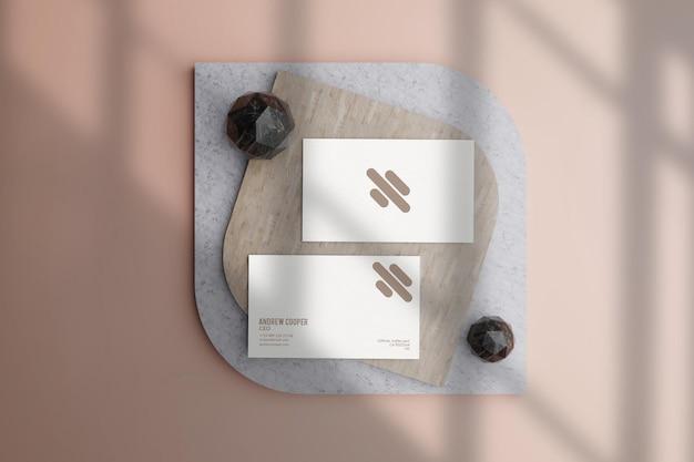 Design limpo da maquete psd do cartão de visita