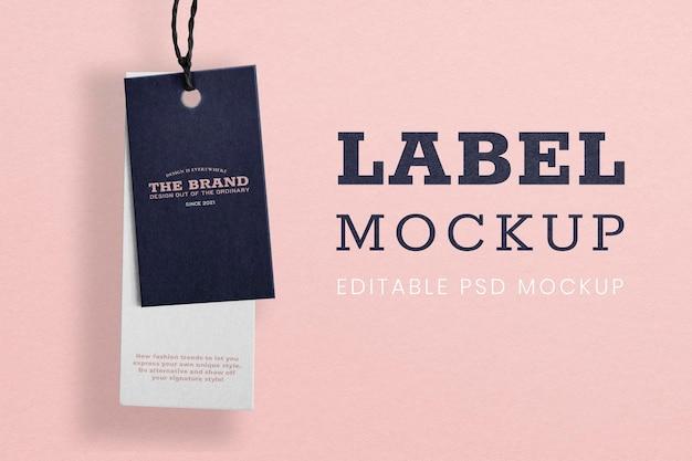 Design minimalista da camisa com etiqueta de preço