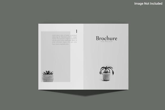 Design minimalista de maquete de brochura dl