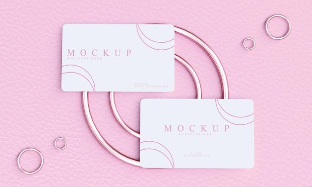 Design minimalista de maquete de cartão de visita