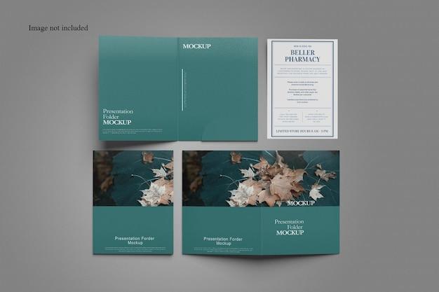 Design minimalista de maquete de pasta de documentos