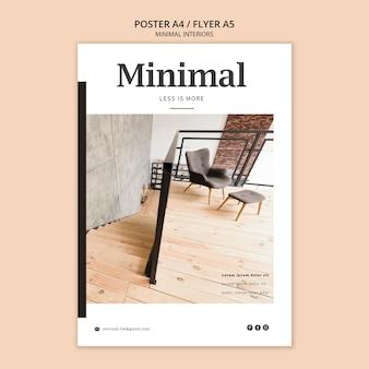 Design minimalista de pôster de interiores