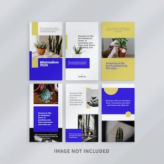 Design minimalista design de modelo de histórias do instagram