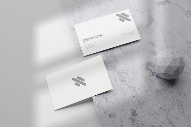 Design mínimo de maquete de cartão de visita