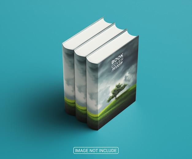 Design moderno de maquete de capa de livro