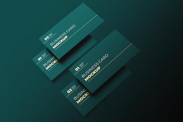 Design moderno de maquete de cartão de visita