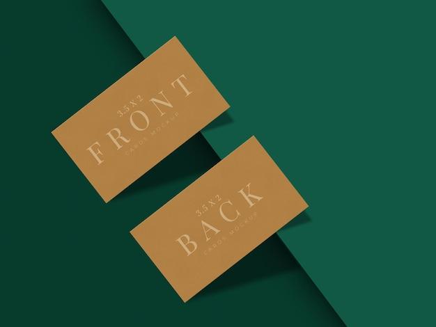 Design moderno de mock-up de cartão de visita para apresentação de marca, identidade corporativa, pessoal com sobreposição de sombra Psd grátis