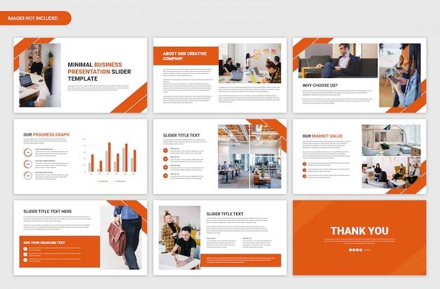 Design moderno de modelo de apresentação de negócios de visão geral de inicialização e projeto
