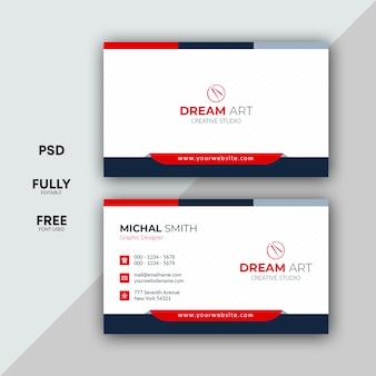 Design profissional de cartão de visita