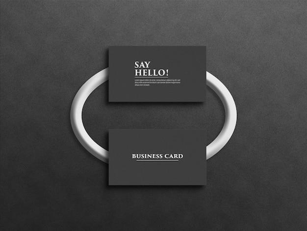 Design profissional de maquete de cartão de visita