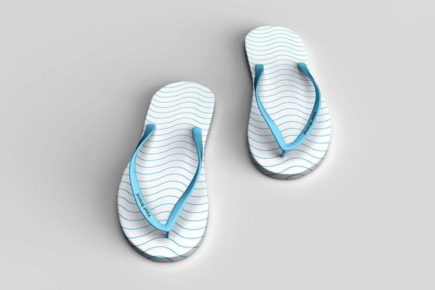 Design realista de chinelos de maquete