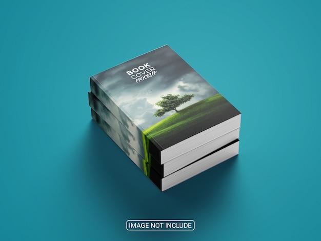 Design realista de maquete de capa de livro