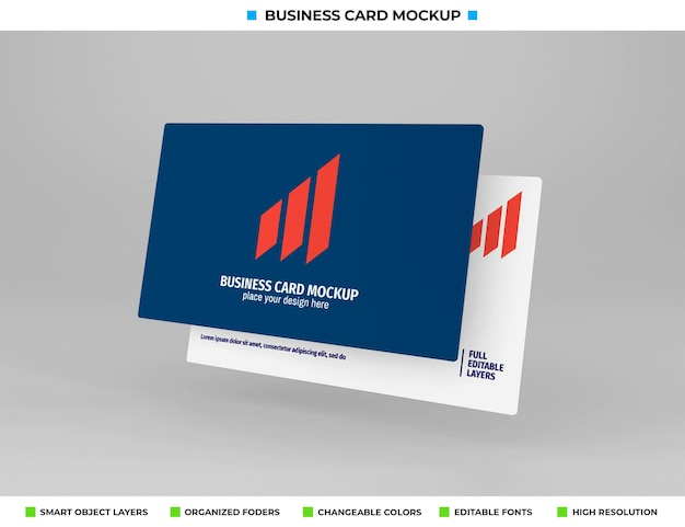 Design realista de maquete de cartão de visita