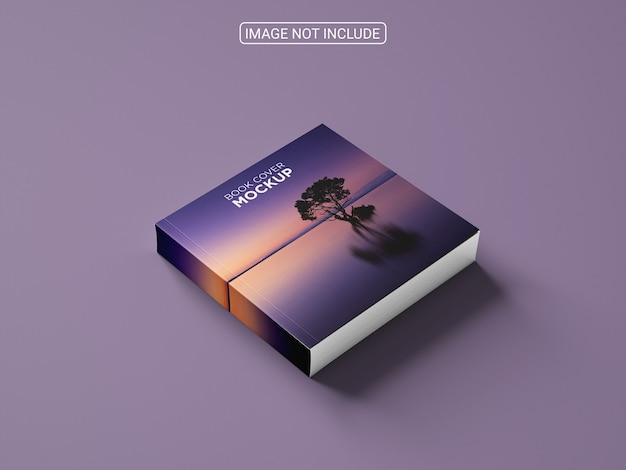 Design realista de maquete de livro de capa dura