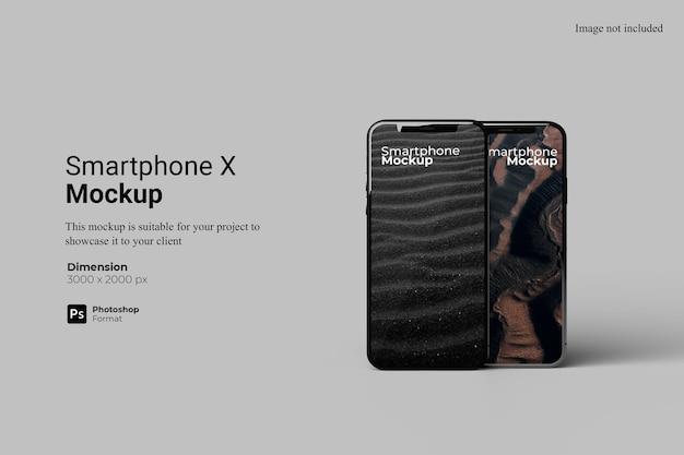 Design realista de maquete de smartphone isolado