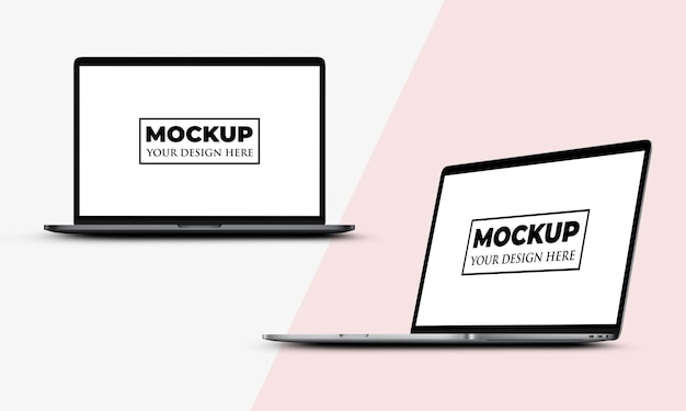 Design realista de maquete de tela de laptop