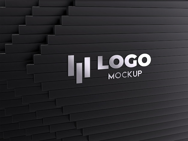 Design realista do logotipo de prata
