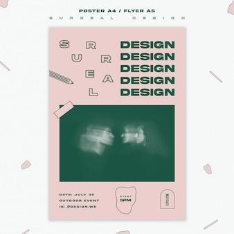 Design surreal de modelo de panfleto