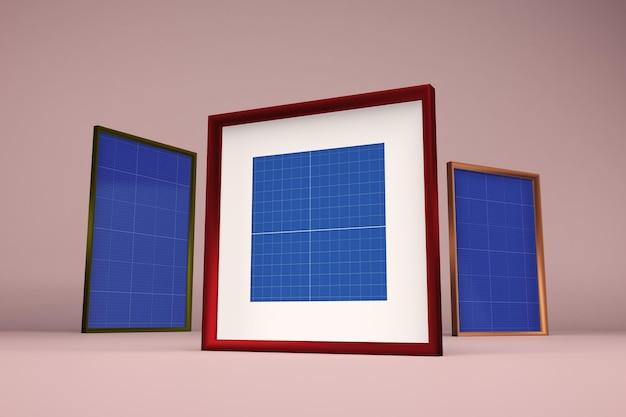 Designs de maquete de quadro