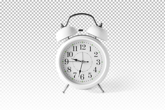 Despertador branco isolado