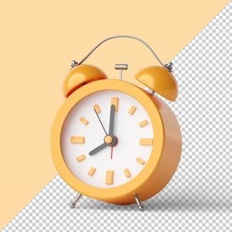 Despertador isolado renderização 3d