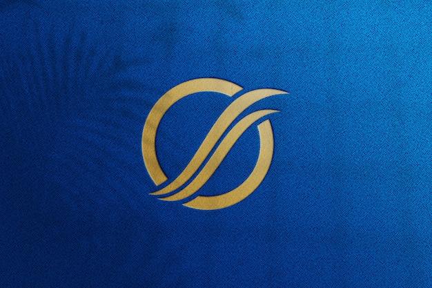 Detalhe da maquete do logotipo de luxo