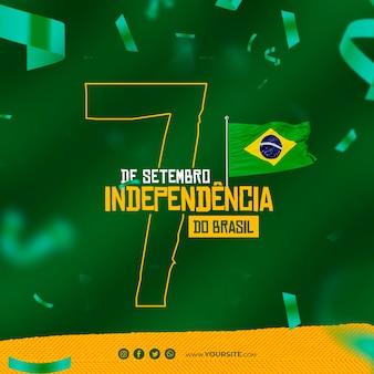 Dia da independência do brasil post para o dia da independência nas redes sociais