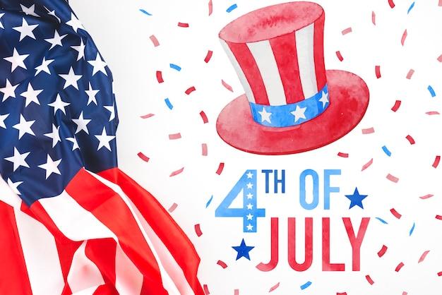 Dia da independência nos estados unidos da américa. 4 de julho