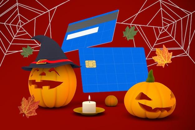 Dia das bruxas cartão de crédito