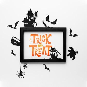 Dia das bruxas com mensagem doce ou travessura