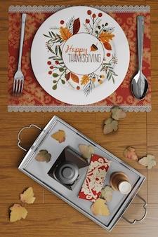 Dia de ação de graças arranjos de mesa