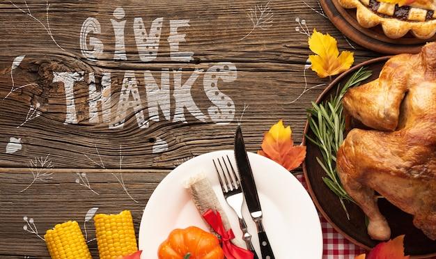 Dia de ação de graças refeição específica