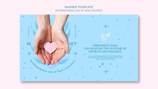 Dia internacional da não violência conceito de banner