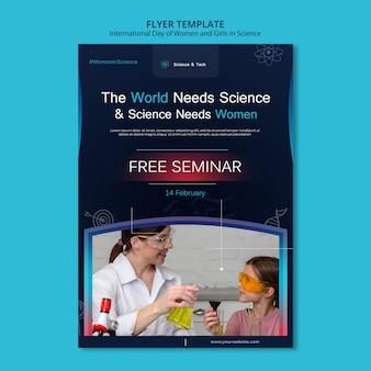 Dia internacional das mulheres e meninas na ciência imprimir modelo