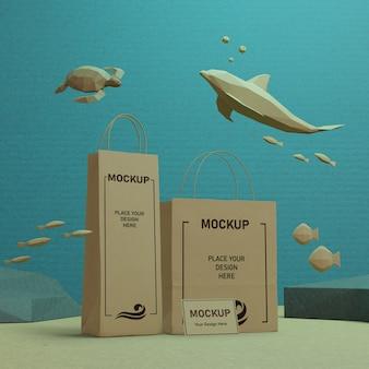 Dia sustentável do oceano debaixo d'água