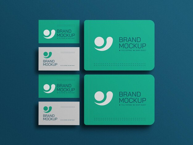 Diário mínimo com maquete de cartão de visita