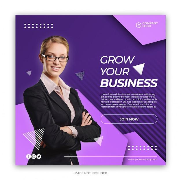 Digital business marketing social media banner quadrado