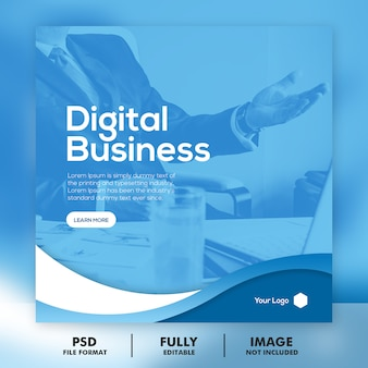 Digital business marketing social media banner quadrado