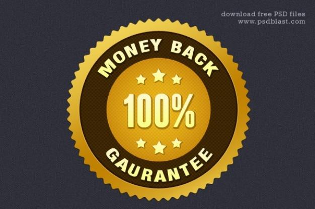 Dinheiro de volta garantia de vedação psd