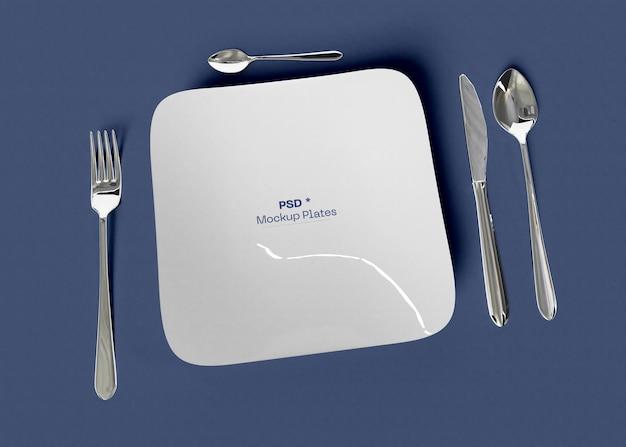 Dinner plate mockup