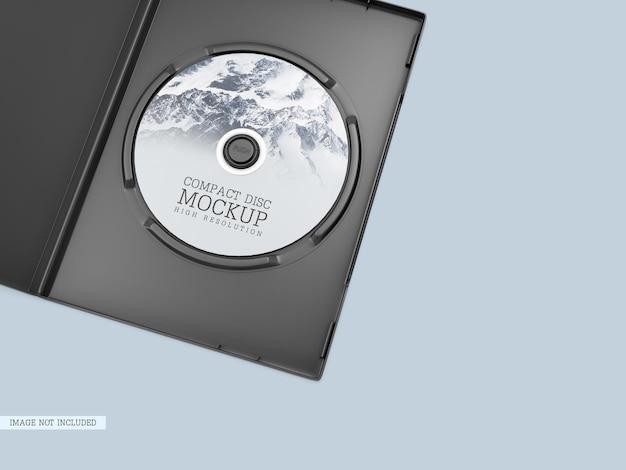 Disco compacto com maquete de capa