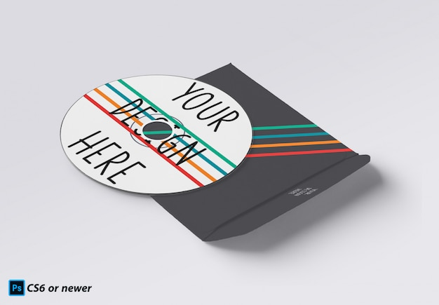 Disco compacto mock up