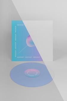 Disco de vinil retrô com modelo abstrato de embalagem Psd grátis