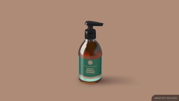 Dispenser cosmetic bottle maquete