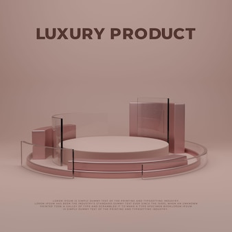 Display de produto elegante e luxuoso do pódio