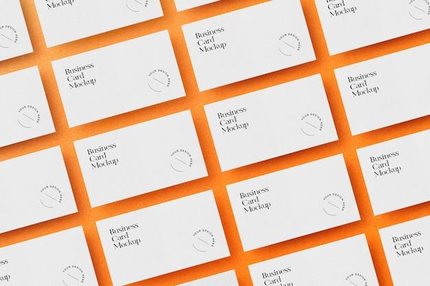 Disposição de maquete de cartões de visita Psd Premium