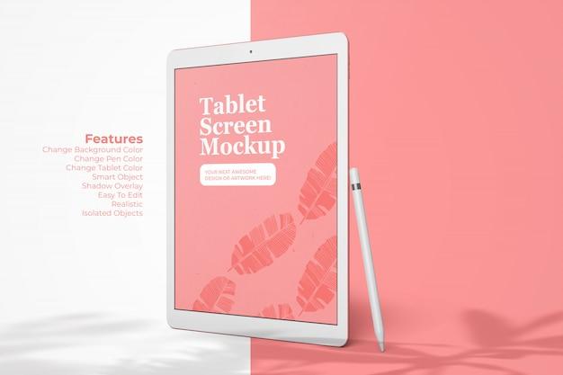 Dispositivo de tablet realista de modelo de maquete de tela pad pro 12.9 polegadas