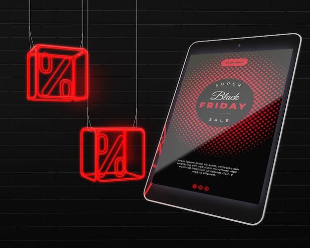 Dispositivo eletrônico à venda na sexta-feira negra