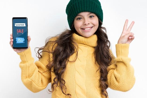 Dispositivos eletrônicos nas vendas no inverno